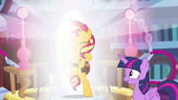 Sunset Shimmer stepping out of the portal EGFF