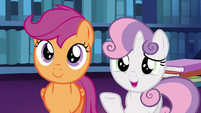 Sweetie Belle suggests using cutie mark magic S6E19