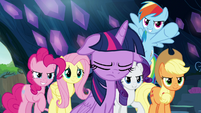 Twilight's friends inspired by Rainbow Dash S9E2