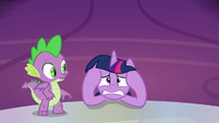 Twilight Sparkle starting to freak out S9E13