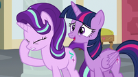 Twilight nervous; Starlight face-hoofs S8E1