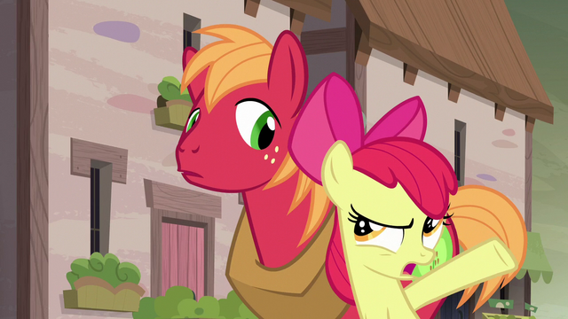 "File:Apple Bloom ""does Sugar Belle even know you like her?"" S7E8.png"