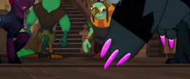 Close-up on Storm Creature's pink claws MLPTM