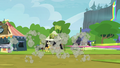 Crowd of ponies dispersing S4E22.png