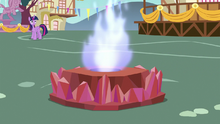 Flame of Friendship torch burning S7E15