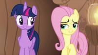 "Fluttershy ""welcome back, my friend!"" S7E20"