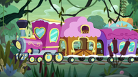 Friendship Express pulls into Hayseed Junction S9E22