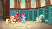 Mayor Mare closing a file cabinet S7E13