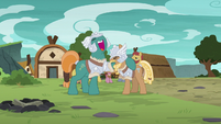 Mighty Helm stallions laughing together S7E16