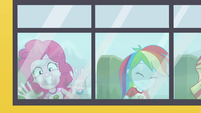 Pinkie Pie and Rainbow riding the CHS bus EG4