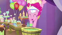 Pinkie Pie diving into ice cream soup MLPS5
