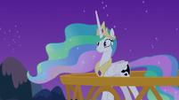 Princess Celestia realizes she's talking to herself S7E10