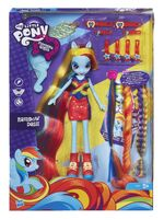 Rainbow Dash Equestria Girls hairstyling doll in box