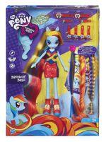 Rainbow Dash Equestria Girls hairstyling doll in box