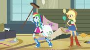 Rainbow Dash and Applejack sweeping EG