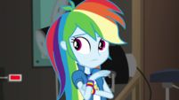Rainbow Dash hears the nervous P.A. EGS2