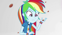 Rainbow Dash holding a chocolate-covered almond EGS3