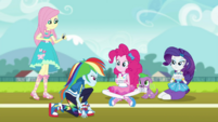 Rainbow Dash on the school track field EGDS6