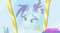 Rarity's reflection with a ruined mane S7E19