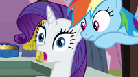 Rarity shocked by Rainbow's news S3E2