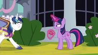 Shining Armor slowly walking away S9E4