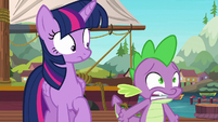 Spike begging the ponies for answers S6E22