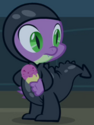 Spike sneaking outfit ID S2E20