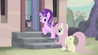 Starlight and Fluttershy walking to Starlight's house S5E02