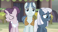 Sugar Belle and Night Glider nervous while Party Favor determined S5E02