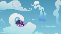 Twilight Sparkle being a cloud spy S5E25