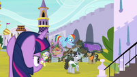 Twilight Sparkle observes right courtyard S9E13