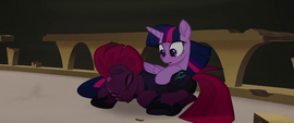 Twilight Sparkle pulls Tempest to safety MLPTM