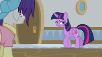 Twilight Sparkle returns to Rarity S8E16