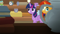 Twilight and Sunburst explore the antique shop S7E24