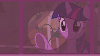 Twilight wipes soot off a window S5E25