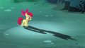 Apple Bloom looking at her shadow S5E4.png