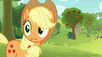 Applejack looks back at Big McIntosh S9E10
