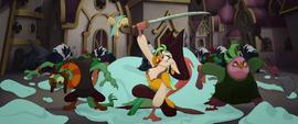 Celaeno leading the pirates into battle MLPTM