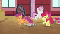 Crusaders jumping around for joy S8E10