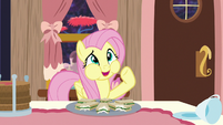 Fluttershy talking with her mouth full S7E12