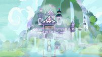 Foggy exterior of School of Friendship S8E16