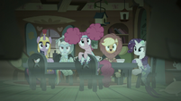 Main five looking behind them S5E21