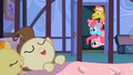 Pinkie Pie, Mr. and Mrs. Cake look at sleeping twins S2E13.png