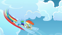 Rainbow Dash flying fast S3E07