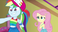 Rainbow Dash proud; Fluttershy embarrassed EGSB