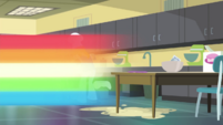 Rainbow Dash speeds out of home ec EGDS37