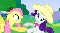 Rarity falling Fluttershy reaching S2E25