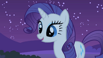 Rarity looks at Spike S1E24