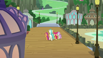 Terramar and CMC walk toward Mt. Aris S8E6