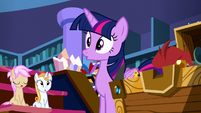 Twilight Sparkle looking very surprised S8E15